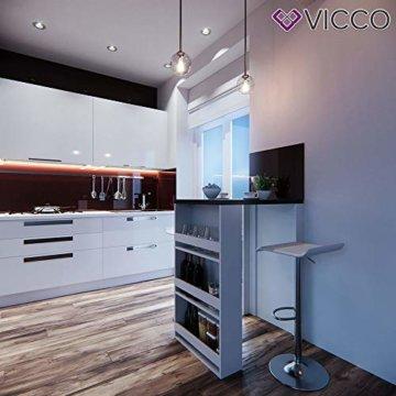 Vicco Bartisch Bar Weiß Anthrazit Tresen Bartresen Stehtisch Tisch Tresentisch Bistrotisch Küche mit 3 extra Fächern - 3