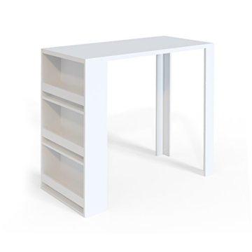 Vicco Bartisch Bar Weiß Tresen Bartresen Stehtisch Tisch Tresentisch Bistrotisch Küche Mir 3 Extra Fächern - 1