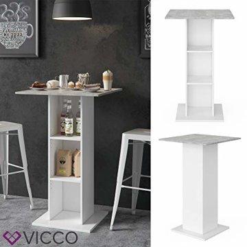 Vicco Bartisch Rodeo Stehtisch Loungetisch Tresentisch Tisch Küchentisch Regal - 2
