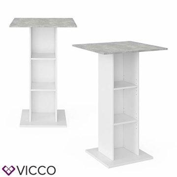 Vicco Bartisch Rodeo Stehtisch Loungetisch Tresentisch Tisch Küchentisch Regal - 4