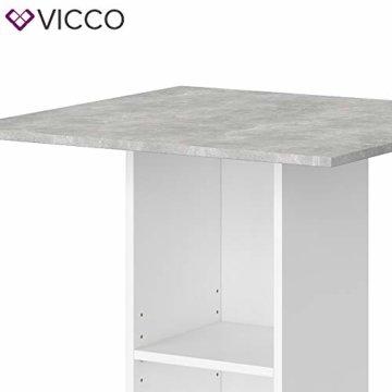 Vicco Bartisch Rodeo Stehtisch Loungetisch Tresentisch Tisch Küchentisch Regal - 5