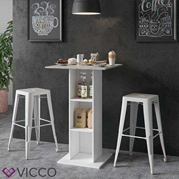 Vicco Bartisch Rodeo Stehtisch Loungetisch Tresentisch Tisch Küchentisch Regal - 6