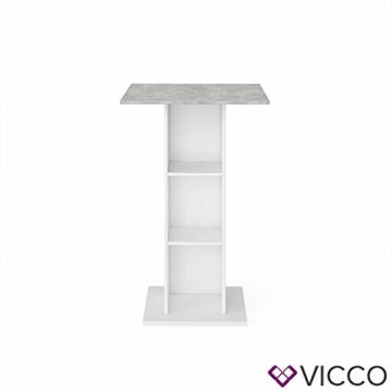 Vicco Bartisch Rodeo Stehtisch Loungetisch Tresentisch Tisch Küchentisch Regal - 7