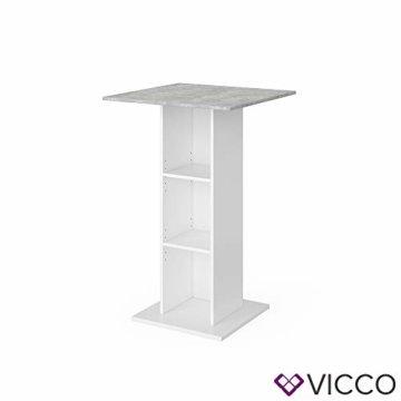 Vicco Bartisch Rodeo Stehtisch Loungetisch Tresentisch Tisch Küchentisch Regal - 8