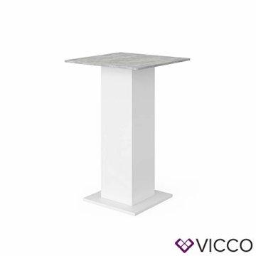Vicco Bartisch Rodeo Stehtisch Loungetisch Tresentisch Tisch Küchentisch Regal - 9