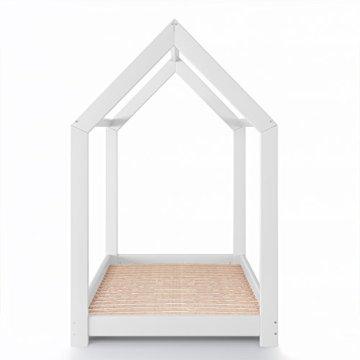 Vicco Kinderbett Kinderhaus Jugendbett Kinder Bett Holz Haus Schlafen Spielbett Hausbett - lackiertes Massivholz - kindgerechte Verarbeitung (Weiß, 90 x 200 cm) - 9