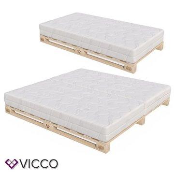 VICCO Palettenbett Bett Holz Massivholzbett 90 100 120 140 160 180 200 x 200cm, Palettenmöbel MADE IN GERMANY (90x200) - 2