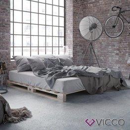 VICCO Palettenbett Bett Holz Massivholzbett 90 100 120 140 160 180 200 x 200cm, Palettenmöbel MADE IN GERMANY (90x200) - 1