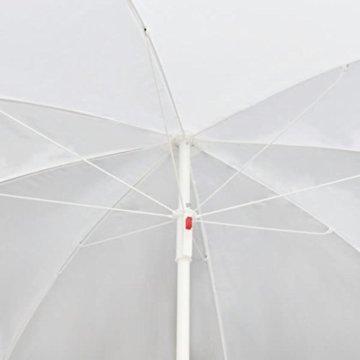 vidaXL Gartenlounge mit Sonnenschirm Poly Rattan Liege Sonnenliege Gartenmöbel - 6