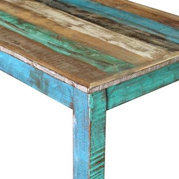vidaXL Massivholz Bartisch Esstisch Stehtisch Bistrotisch Antik 115x60x107 cm - 7