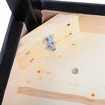 WOLTU BH21gr-2 Barhocker Holz Bistrostuhl Bistrohocker mit Lehne, 2er Set, Massivholz, Antirutschgummi, Kunstleder, dick gepolsterte Sitzfläche, Grau - 6