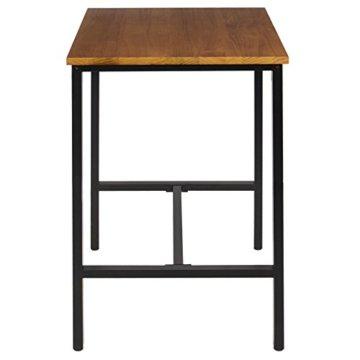 WOLTU BT12hei 1x Bartisch Bistrotisch Stehtisch Esstisch, Metallgestell, Tischplatte aus Massivholz, Eiche, 66x66x110cm(BxTxH) - 4
