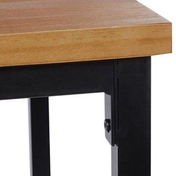 WOLTU BT12hei 1x Bartisch Bistrotisch Stehtisch Esstisch, Metallgestell, Tischplatte aus Massivholz, Eiche, 66x66x110cm(BxTxH) - 5