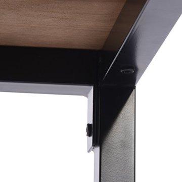 WOLTU BT13hei 1x Bartisch Bistrotisch Stehtisch Esstisch, Metallgestell, Tischplatte aus Massivholz, Eiche, 120x66x110cm(BxTxH) - 7