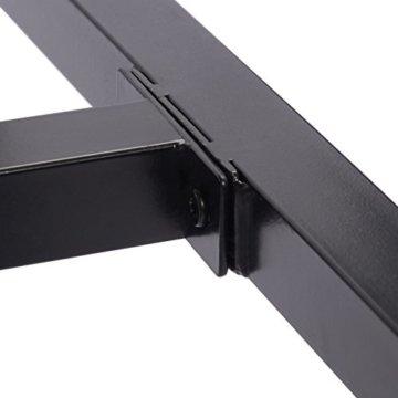 WOLTU BT13hei 1x Bartisch Bistrotisch Stehtisch Esstisch, Metallgestell, Tischplatte aus Massivholz, Eiche, 120x66x110cm(BxTxH) - 8