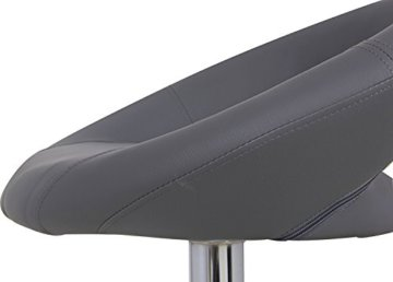 WOLTU Design 2 x Barhocker Tresenhocker mit Griff, 2er Set, stufenlose Höhenverstellung, verchromter Stahl, Antirutschgummi, pflegeleichter Kunstleder, gut gepolsterte Sitzfläche, BS9165 Grau - 5