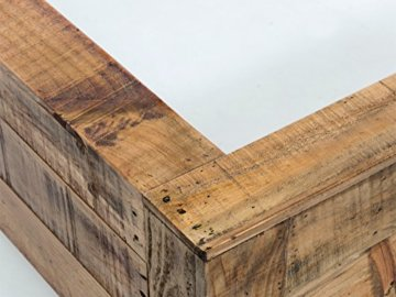 Woodkings Bett 180x200 Havelock Doppelbett recycelte Pinie rustikal Schlafzimmer Massivholz Design Ehebett Balkenbett Massive Naturmöbel Echtholzmöbel günstig - 4