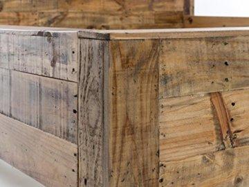 Woodkings Bett 180x200 Havelock Doppelbett recycelte Pinie rustikal Schlafzimmer Massivholz Design Ehebett Balkenbett Massive Naturmöbel Echtholzmöbel günstig - 5