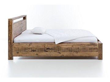 Woodkings Bett 180x200 Havelock Doppelbett recycelte Pinie rustikal Schlafzimmer Massivholz Design Ehebett Balkenbett Massive Naturmöbel Echtholzmöbel günstig - 6
