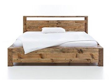 Woodkings Bett 180x200 Havelock Doppelbett recycelte Pinie rustikal Schlafzimmer Massivholz Design Ehebett Balkenbett Massive Naturmöbel Echtholzmöbel günstig - 7