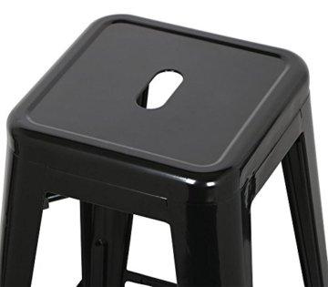 Yaheetech 4 x Metall Barhocker Bistrostuhl stapelbar Barstuhl Industry Design bis 150kg schwarz - 6