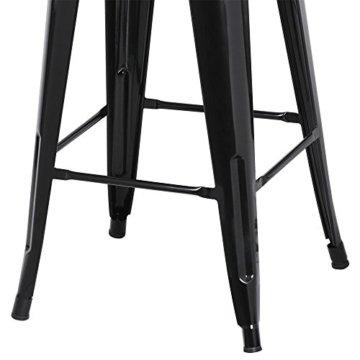 Yaheetech 4 x Metall Barhocker Bistrostuhl stapelbar Barstuhl Industry Design bis 150kg schwarz - 7